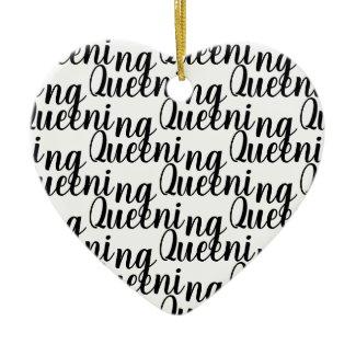 Queening Christmas Ornament