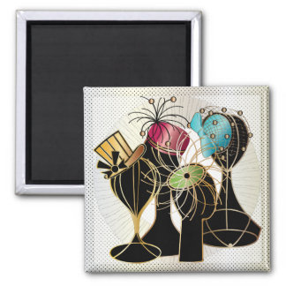 Queenly Hats 2 Inch Square Magnet