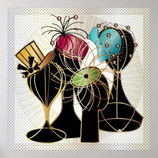Queenly Hats Poster