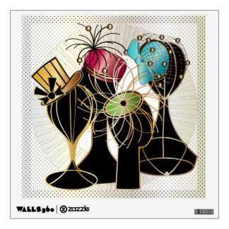 Queenly Hats Wall Decal