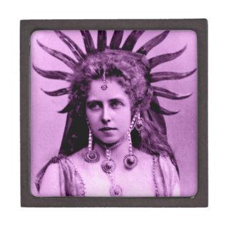 QueenMarie of Romania as the Sun Queen - in purple Keepsake Box