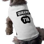 Queens 718 cortado de Apple y de la bandera grande Playera Sin Mangas Para Perro