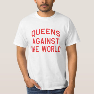 Queens Against The World - Red Print T-Shirt