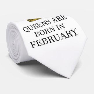 Queens Are Born In February Neck Tie