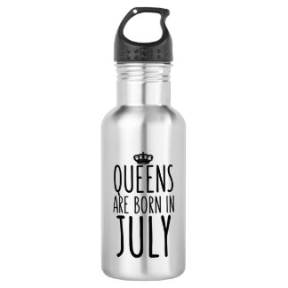 Queens are Born in July Water Bottle