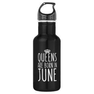 Queens are Born in June Water Bottle