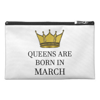 Queens Are Born In March Travel Accessory Bag