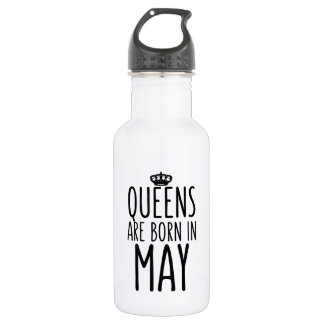 Queens are Born in May Water Bottle