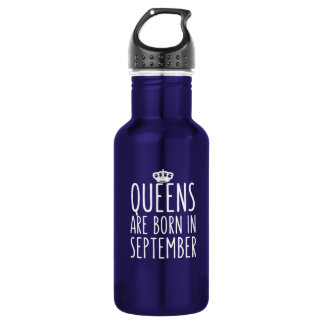 Queens are Born in September Stainless Steel Water Bottle