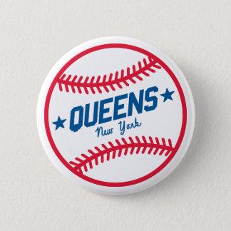 Queens Baseball Pinback Button