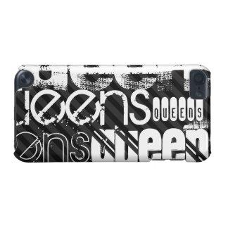 Queens; Black & Dark Gray Stripes iPod Touch 5G Case