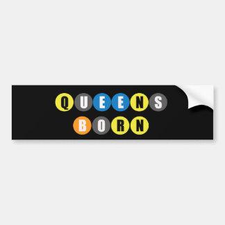 Queens Born Bumper Sticker Car Bumper Sticker