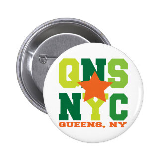 Queens botón verde de NY Pins