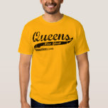 Queens Bred - New York City NY - Black Lettering T Shirt