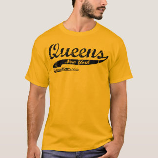 Queens Bred - New York City NY - Black Lettering T-Shirt