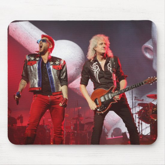 Queen's Brian May & Adam Lambert | San Jose, CA Mouse Pad