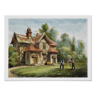 Queen's Cottage, Richmond Gardens, plate 17 from ' Poster