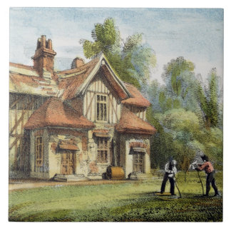 Queen's Cottage, Richmond Gardens, plate 17 from ' Tile