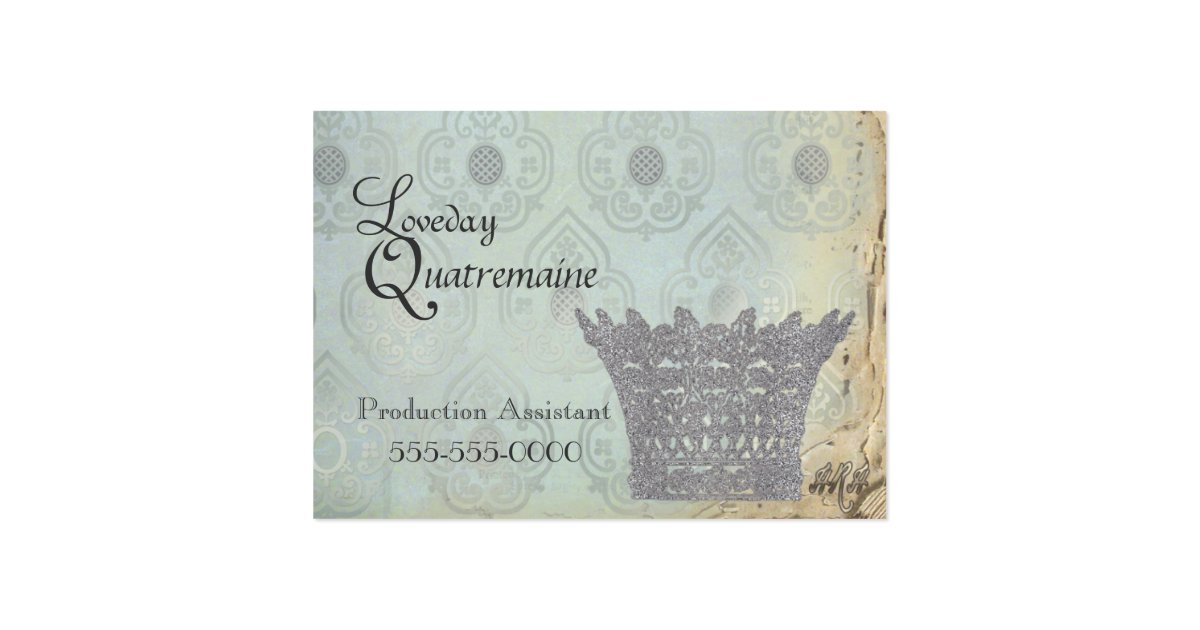Queen39s crown business cards zazzle for Crown business cards