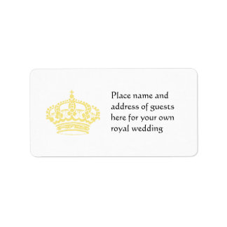Queen's Crown in Gold Label