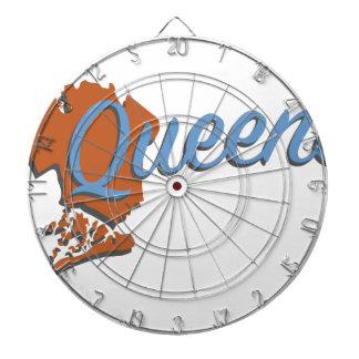 Queens Dartboard With Darts
