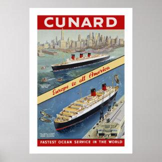 Queens de Cunard Posters