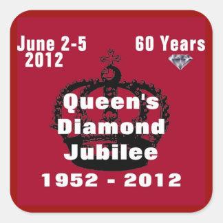 Queens Diamond Jubilee 1952-2012 Sticker Square Sticker