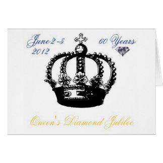 Queens Diamond Jubilee 2012 Greeting Card