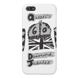 Queen's Diamond Jubilee 2012 Greyscale Emblem Covers For iPhone 5