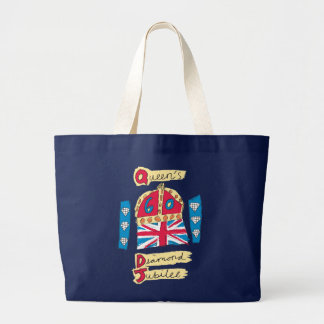 Queen's Diamond Jubilee 2012 Official Color Emblem Jumbo Tote Bag