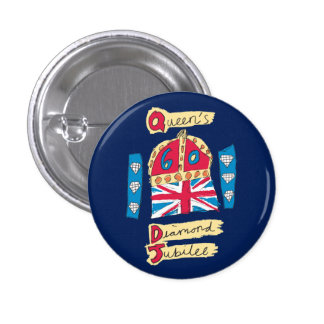 Queen's Diamond Jubilee 2012 Official Color Emblem Pin
