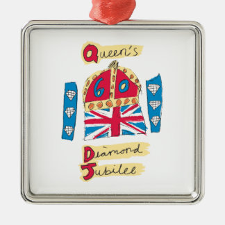 Queen's Diamond Jubilee 2012 Official Color Emblem Metal Ornament