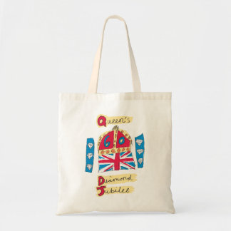 Queen's Diamond Jubilee 2012 Official Color Emblem Tote Bag