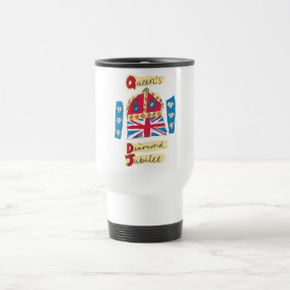 Queen's Diamond Jubilee 2012 Official Color Emblem Travel Mug