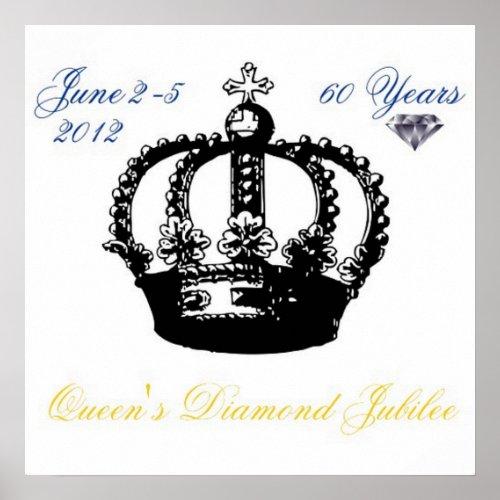 Queens Diamond Jubilee 2012 Poster posters