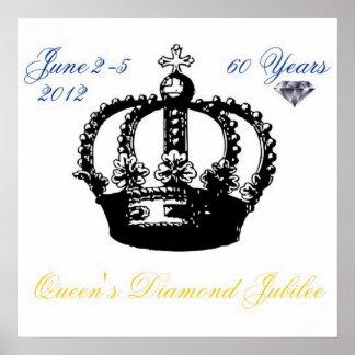 Queens Diamond Jubilee 2012 Poster