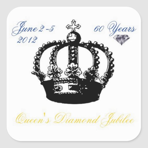 Queens Diamond Jubilee 2012 Sticker