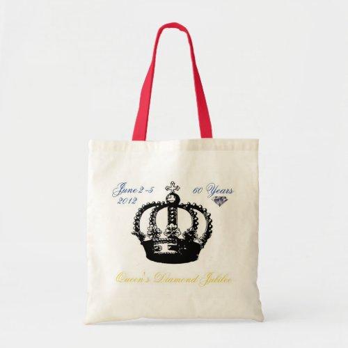 Queens Diamond Jubilee 2012 Tote Bag bags