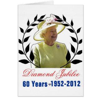 Queens Diamond Jubilee 60 Years Greeting Card