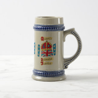 Queen's Diamond Jubilee Emblem Beer Stein