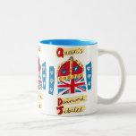 Queen's Diamond Jubilee Emblem Two-Tone Coffee Mug