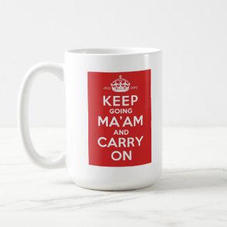 Queens Diamond Jubilee Mug - Keep Going Ma'am