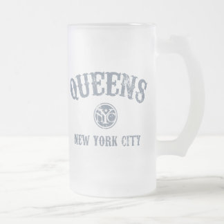 *Queens Frosted Glass Beer Mug