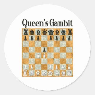 Queen's Gambit Classic Round Sticker