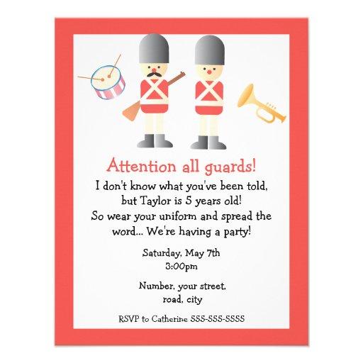 "Queen's Guard Birthday Party Invitation 4.25"" X 5.5 ..."