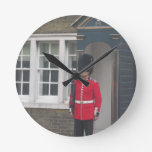 Queen's Guard Round Clocks