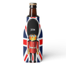 Queen's Guard Soldier Cartoon Bottle Cooler