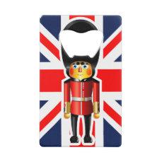 Queen's Guard Soldier Cartoon Credit Card Bottle Opener