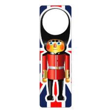 Queen's Guard Soldier Cartoon Door Hanger