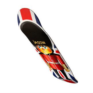 Queen's Guard Soldier Cartoon Skateboard